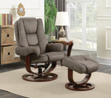 Cybele Casual Grey Chair with Ottoman - Furniture Lobby
