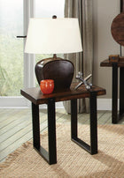 Industrial Vintage Brown End Table - Furniture Lobby