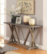 Industrial Driftwood Sofa Table - Furniture Lobby