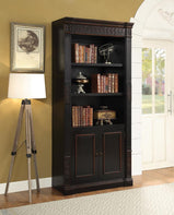 Nicolas Traditional Espresso Bookcase - Furniture Lobby