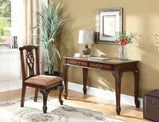 Traditional Golden Brown Desk and Chair Set with Map Desk Top - Furniture Lobby