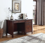 Traditional Red Brown Writing Desk - Furniture Lobby