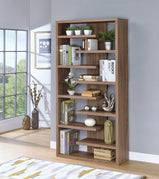 Transitional Elm Interjecting Shelf Bookcase - Furniture Lobby