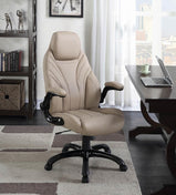 Contemporary Khaki High-Back Office Chair - Furniture Lobby