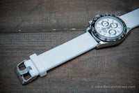 Silicon/ rubber watch strap with quick-release spring bars installed