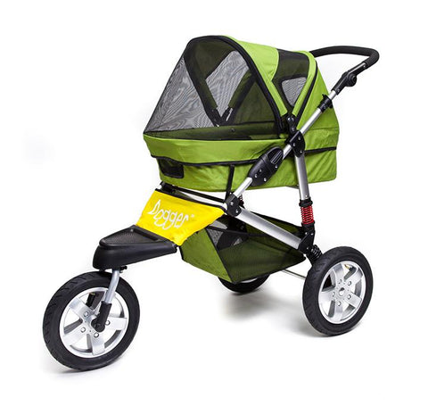 Dogger Stroller - Green with Yellow