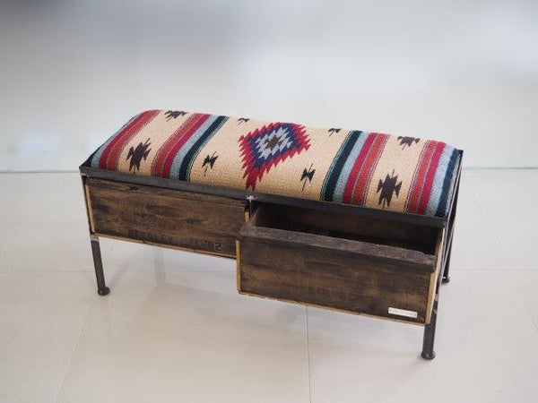 品番UMR2−103  2drawer ottoman[Narrow/ Tribal rug]