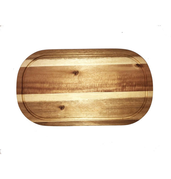 "Acacia Serving Rounded cutting board 20"" X 11"""