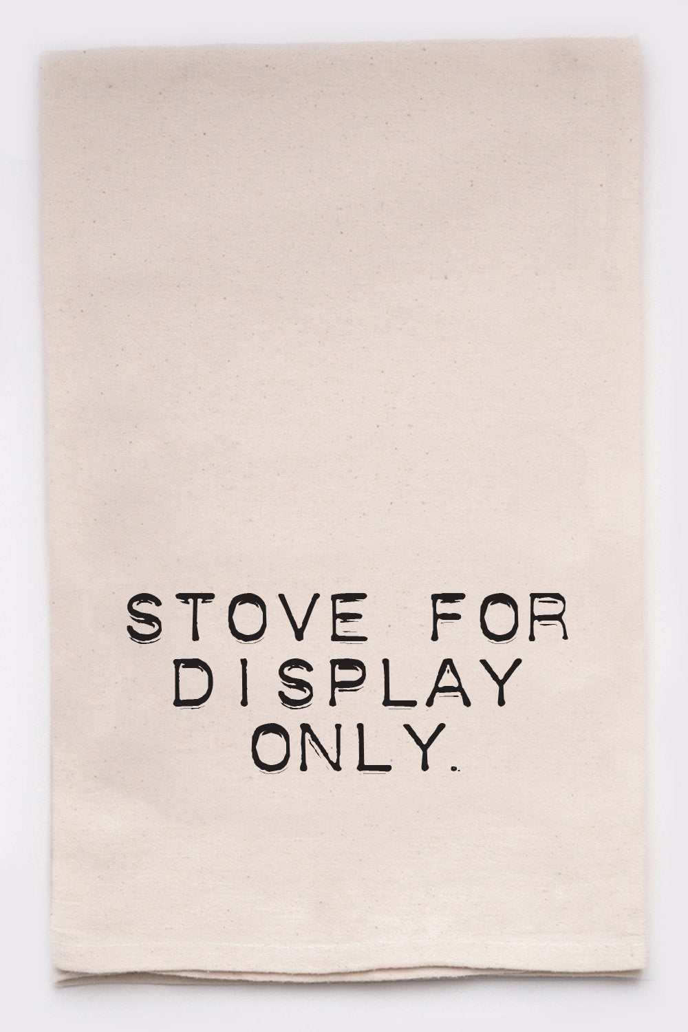 Stove for display only dish towel