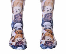 Load image into Gallery viewer, Puppy All Over crew socks