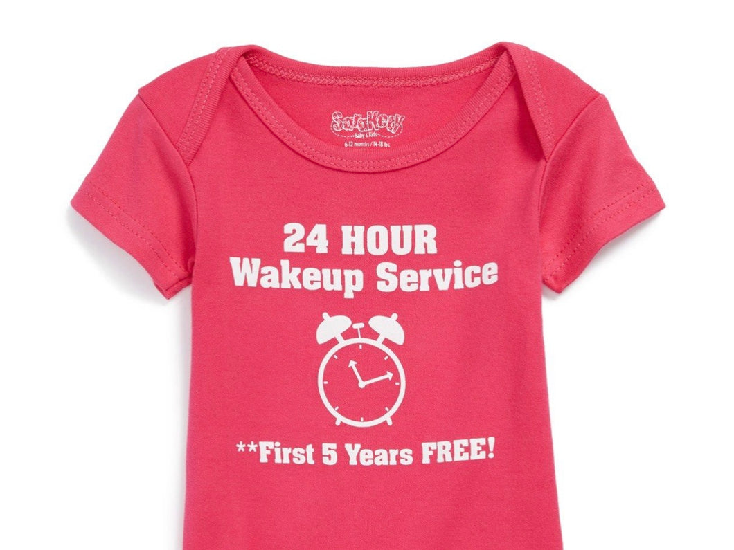 24 hour wake up service available