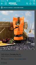 Load image into Gallery viewer, Life Preserver Wine Bottle Cover