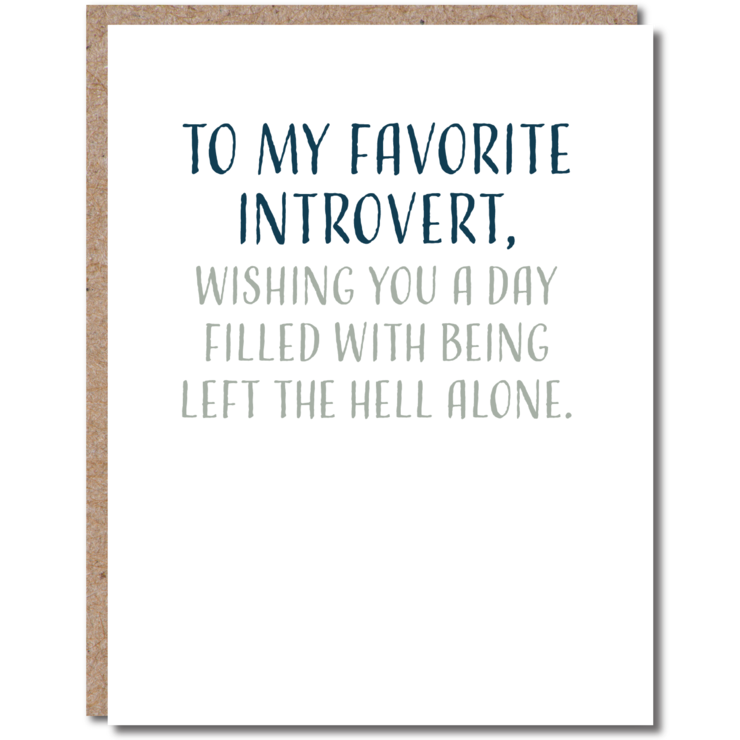 To My Favorite Introvert Card