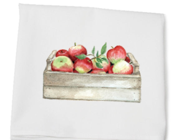 APPLES IN CRATE kitchen towel