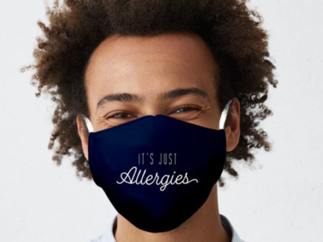 It's Just Allergies mask