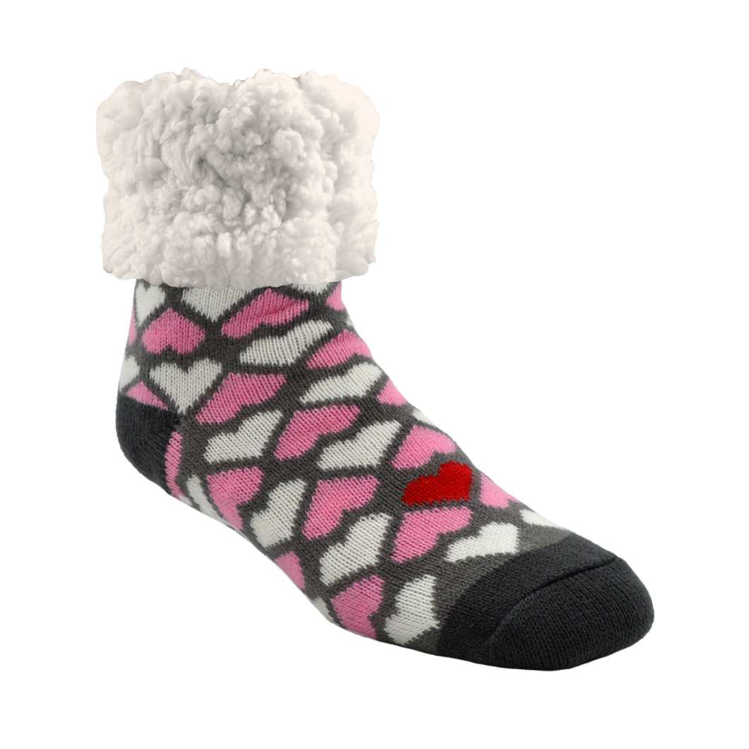 Pudus Heart Valentine Classic Slipper Socks