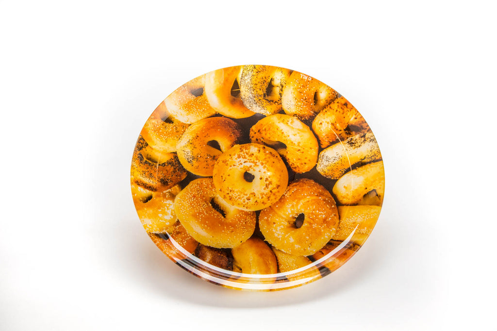 Glass bagel tray