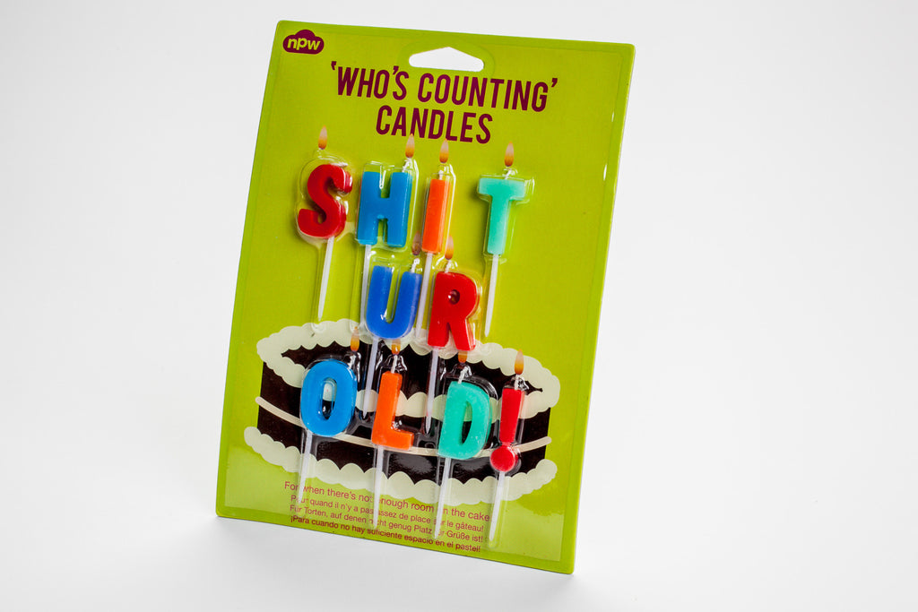 Shit Ur Old candles
