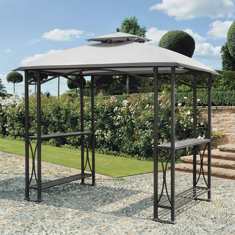 Sunjoy Light Gray Replacement Canopy For Grill Gazebo (5X8 Ft) L-GG040PST-A Sold At Sam's