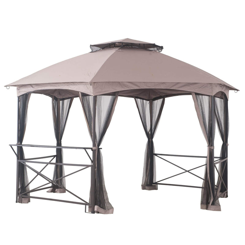 Sunjoy Brown Replacement Mosquito Netting For Crossman Gazebo (11X15 Ft) L-GZ076PST-1A-4 Sold At Wal-Mart US