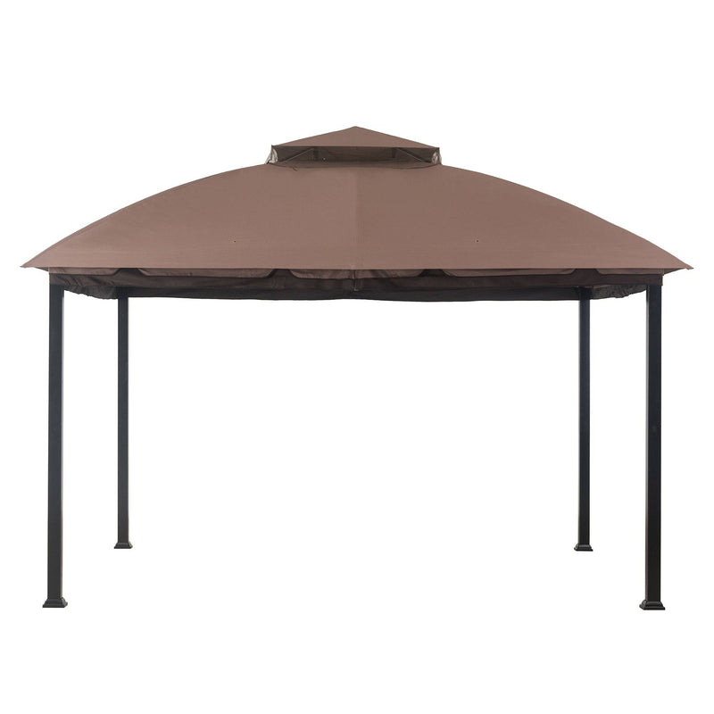 Sunjoy Brown Replacement Canopy For Malibu Gazebo (10X12 Ft) L-GZ215PST-B Sold At OSJ
