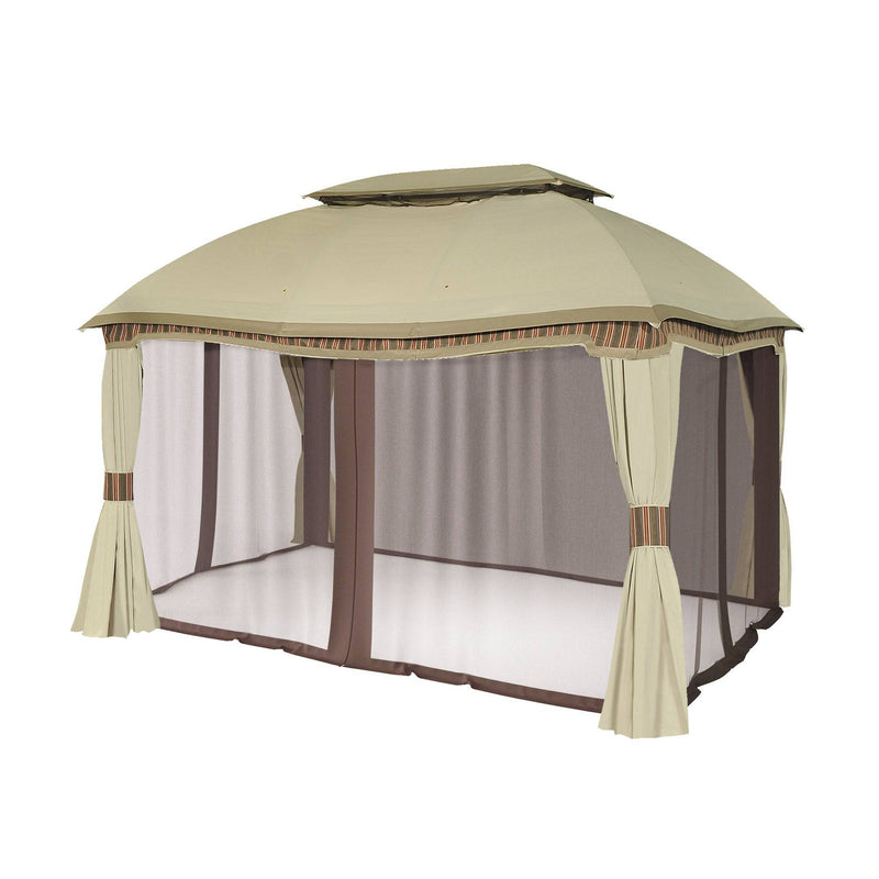 Sunjoy Brown Replacement Mosquito Netting For Domed Gazebo (10x13 FT) L-GZ822PCO Sold At Sam's