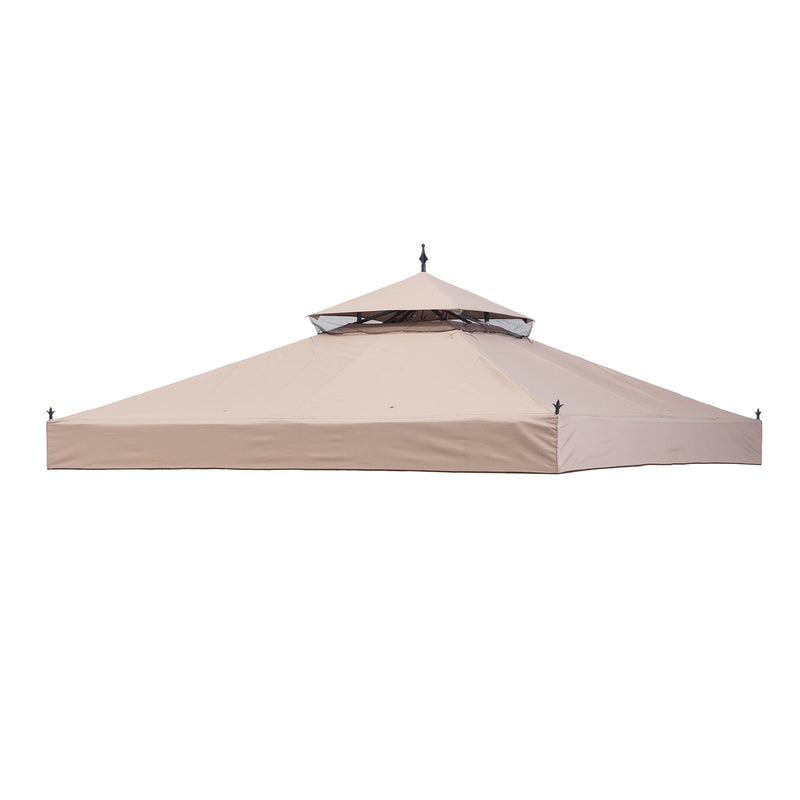 Sunjoy Light Brown Replacement Canopy For Sun Shade Gazebo (10X10 Ft) L-GZ414PST Sold At Wal-Mart US