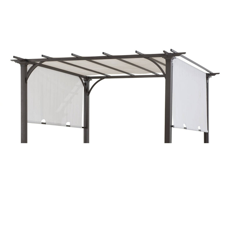 Sunjoy White Replacement Canopy For Adjustable Shade Pergola (8X8 Ft) L-PG080PST-F6 Sold At Target