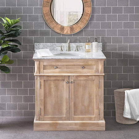 Sunjoy Chatel 36 in. Single Sink Bathroom Vanity, Rustic