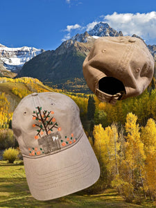 Hand Painted Peach World Trail Hat