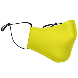 Adjustable Yellow Face Mask - 3 PACK (Youth & Adult)