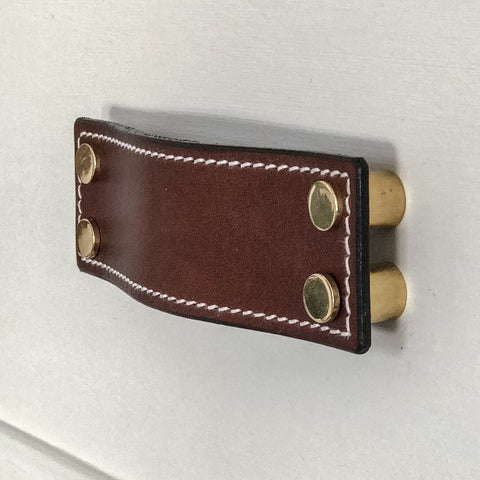 Randall Stitched Brown Leather Door Pull
