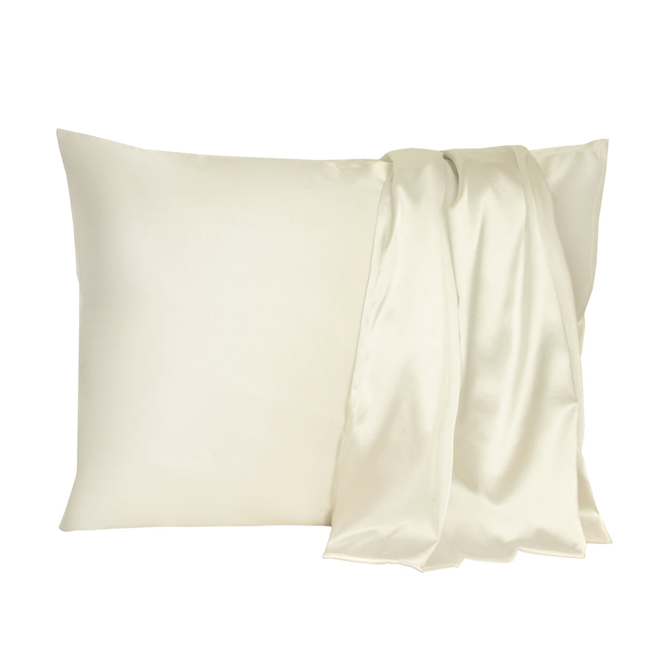 Satin-Pillow Kussensloop Wit Satijn