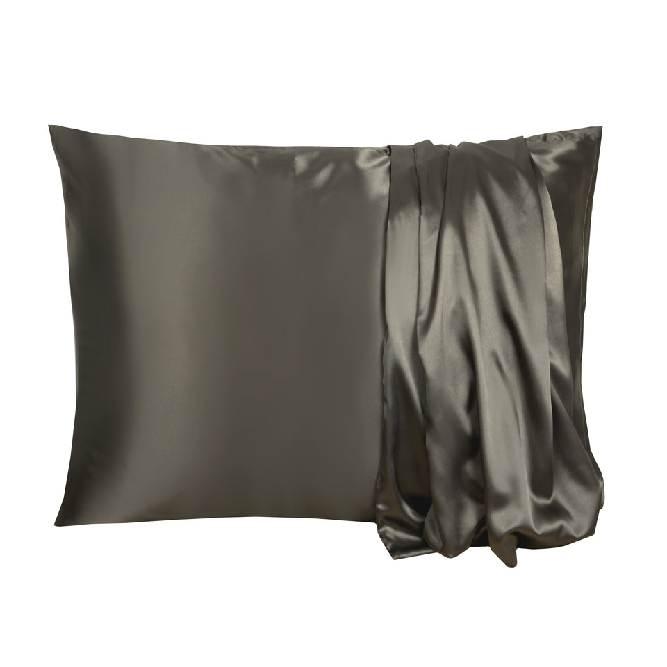 Satin-Pillow Kussensloop Antraciet Satijn