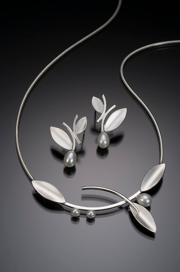 Innovations Sterling Silver and White Pearl Necklace