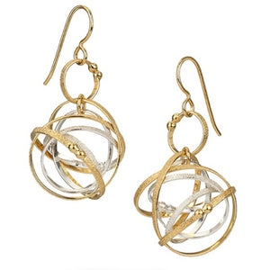 K Maley Gold & Silver Medium Mobius Loop Earring