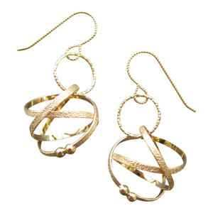 K Maley 22KT Gold Vermeil Mobius Loop Earrings