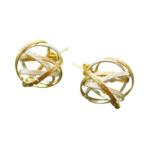 K Maley Sterling Silver & 22KT Gold Vermeil Post Earring
