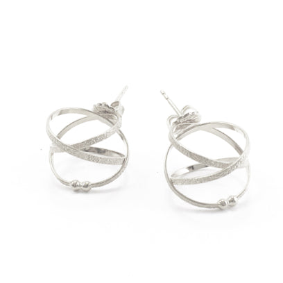 K Maley Mobius Sterling Silver Post Earrings