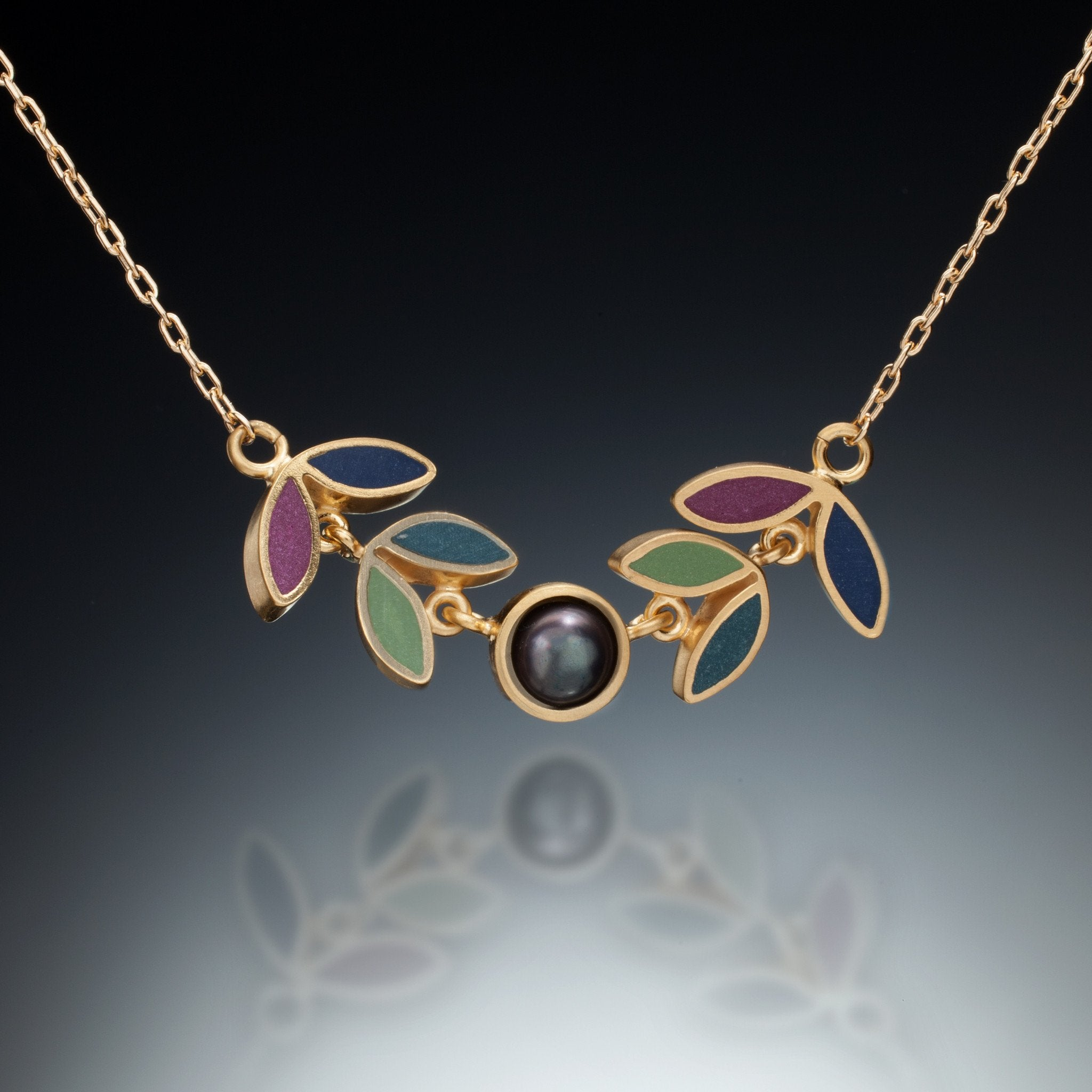 Kinzig Four Leaf Gold Necklace