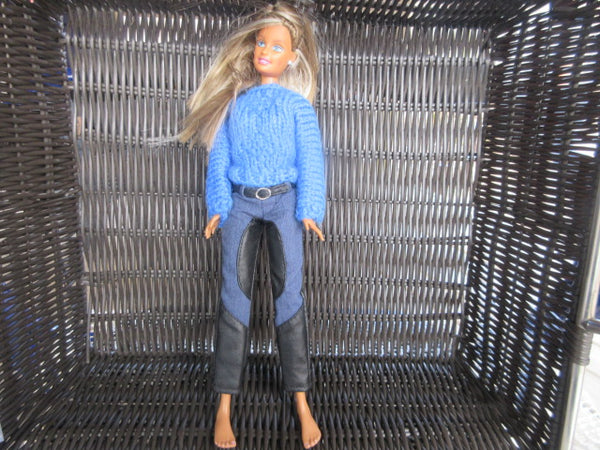 BARBIE 1999 CHINA WEARING WOOL SWEATER AND JEANS AS IS SHIPPING AND HANDLING INCLUDED IN PRICE
