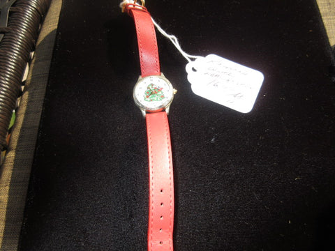 CHRISTMAS WATCH, PREOWNED AS IS FREE SHIPPING AND HANDLING NO RETURNS
