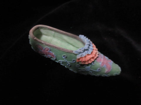"MULTICOLOURED CERAMIC MINIATURE SLIP ON SHOE 3""APPROX  NO RETURNS!  FREE SHIPPING AND HANDLING!"