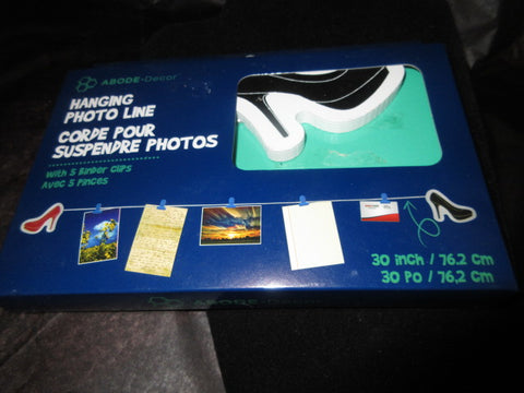 SHOE PHOTO HOLDER STRING NEW IN BOX