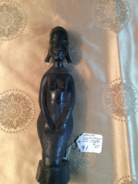 STATUES GENUINE BESMOS HAND CARVED KENYA  FREE SHIPPING AND HANDLING NO RETURNS