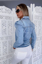 'Megan' Puff Sleeve Denim Jacket