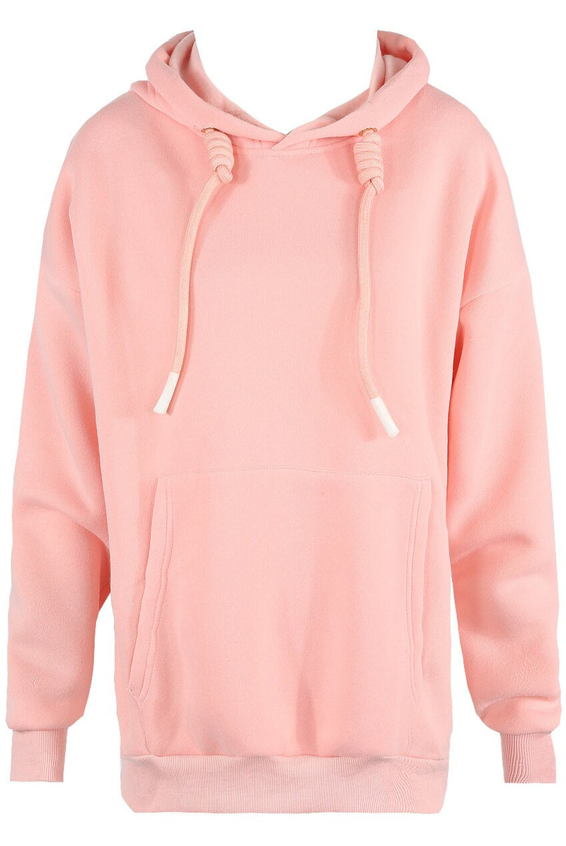 Oversized Angel Wings Baby Pink Soft Touch Hoodie