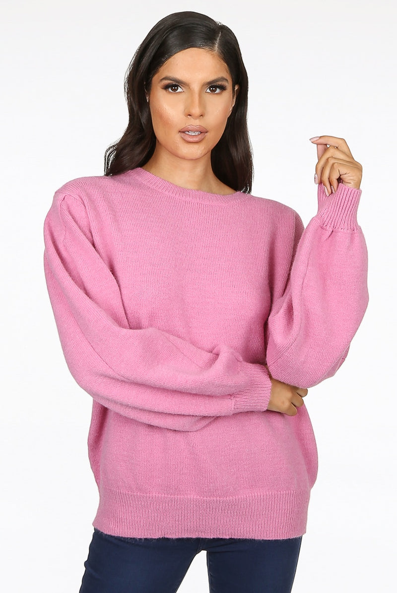 'Jacy' Chain Back Soft Knit Jumper