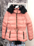 'Paris' Faux Fur Hodded Puffer Jacket Coat