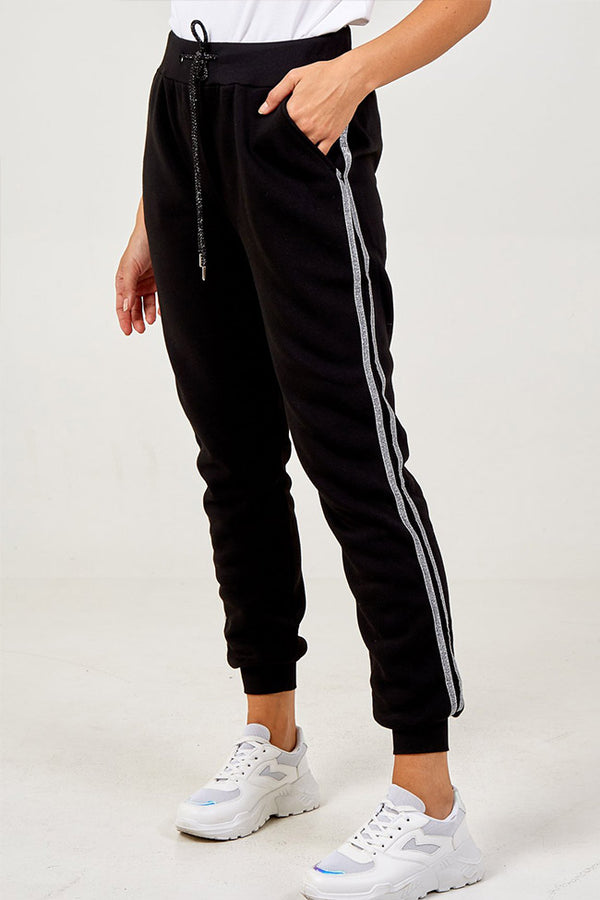 'Giselle' Side Stripe Sparkle Joggers
